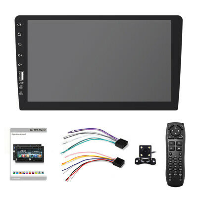 """Android 8.11 Single 1Din MP5 Player 9"""" Touch Screen Stereo Radio BT Camera"""