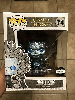 Funko Pop! Game Of Thrones Hbo Shop Metallic Night King On Throne New Sealed