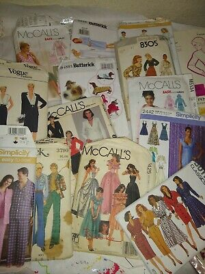 Lot Of 50+  Vintage Sewing Patterns Women's  Simplicity McCall