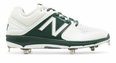 New Balance Low-Cut 3000v3 Metal Baseball Cleat Mens Shoes White with Green Size