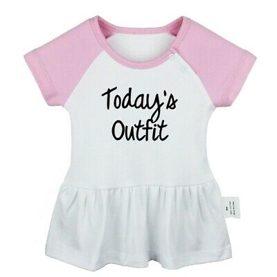 Today's Outfit Newborn Baby Girls Dress Toddler Infant 100% Cotton Clothes