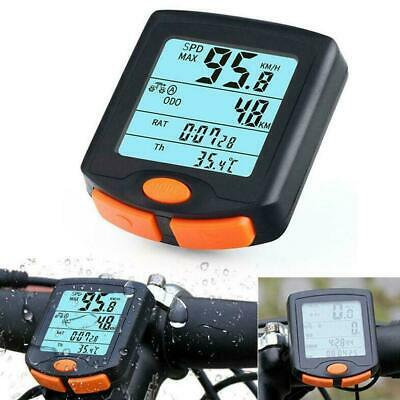 Wireless Bike Cycling Bicycle Cycle Computer Odometer Hot Backlight Speedom H4M9