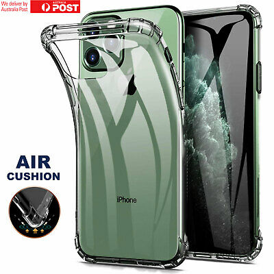 iPhone 11 Pro Max XR Xs Max 7 8 Plus Case, Air Cushion Soft Crystal Clear Cover