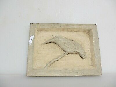 Antique Wooden Panel Plaque Sign Architectural Vintage Old Bird Nature French