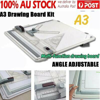 A3 Drawing Board Table Tool With Parallel Motion & Adjustable Angle Drafting AU