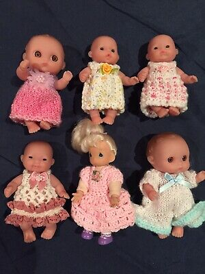 Hand Knitted Dolls Clothes For 5 Inch Chubby Doll