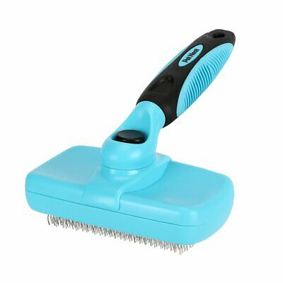 Self Cleaning Slicker Brush Shedding Grooming Hair Fur Comb For Pet Dog Cat
