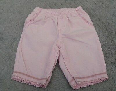 Baby Girls 100% Cotton Light Pink Corduroy Trousers (0-3 Months) - By Carter's