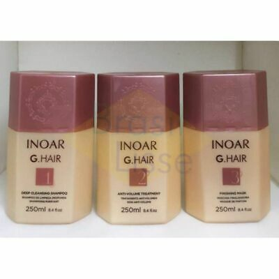 Inoar Ghair  Kit Lissage Brésilien 3 X 250 Ml Non Reconditionne
