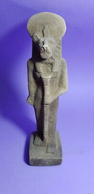 Sekhmet Unique Stone Sculpture Ancient Egyptian Antique Faience Lioness Figurine