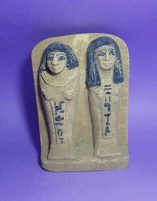 Rare Egyptian Antique Relief Plaque Wall Rare Ancient Carved Stone Shabtis Scene