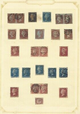 GB 1840-70 early classic stamp collection w/ penny black/mint penny red, huge CV
