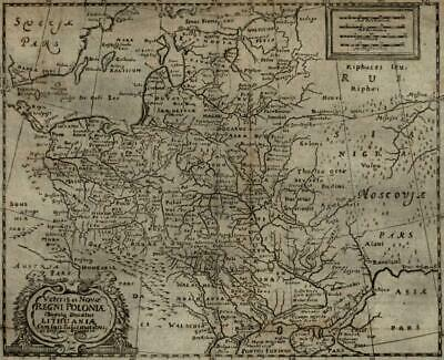 Poland-Lithuania Russia Baltic to Black Sea 1694 Mosting map