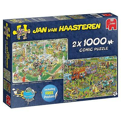 Jan Van Haasteren Food Festival Jigsaw Puzzle (2 x 1000 Pieces with er)