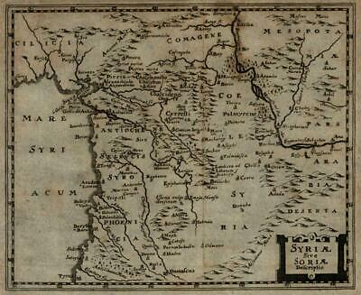 Syria Antioch Phoenicia Mesopotamia 1694 Mosting map