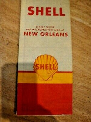 1960 New Orleans Street Map - Shell Oil Co.