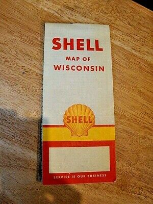 1956 Wisconsin Highway Map - Shell Oil Co.