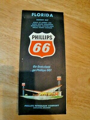 1964 Florida Highway Map - Phillips 66 Oil Co.