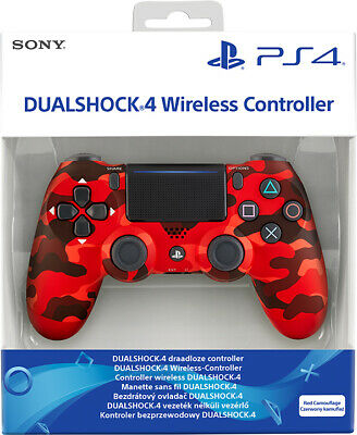 Controller Sony Wireless Ps4 Dualshock 4 Pad Red Camouflage Playstation 4 V2