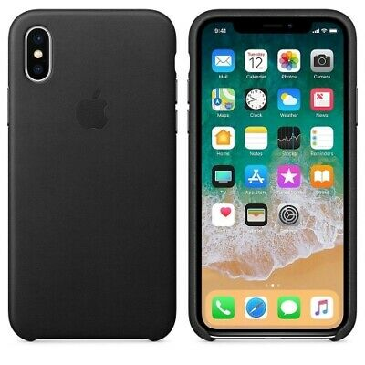 Genuine Apple Leather Case For Apple iPhone XS iPhone X Black MRWM2ZM/A USED