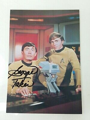 WALTER KOENIG & GEORGE TAKEI (Signed) autograph signature Post Card