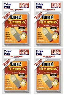 8 Pairs (16 Individual) HotHands Adhesive Toe Warmers - Expires OCT 2022