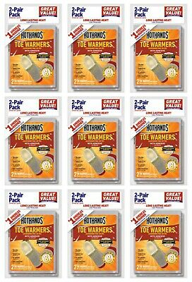18 Pairs (36 Individual) HotHands Adhesive Toe Warmers - Expires OCT 2022