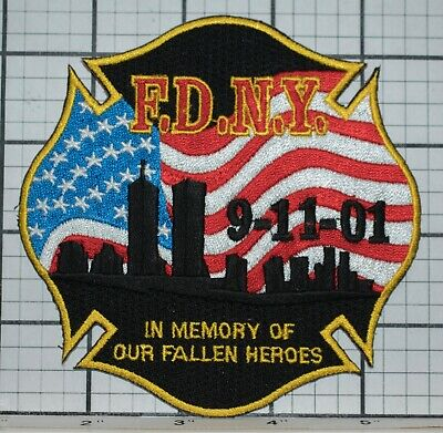 F.D.N.Y Fire Dept In Memory of Our Fallen Heroes Patch 9-11 WTC