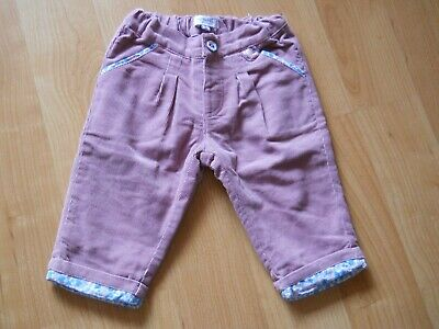 Alphabet Pantalon Velours Fille 6 Mois Rose Excellent Etat