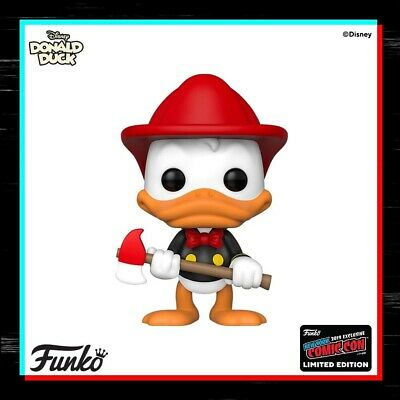 PREORDER Funko Pop! Disney Shared 2019 NYCC Exclusive FIREFIGHTER DONALD DUCK