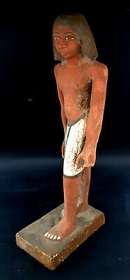 Giant Ushabti Wooden Sculpture Ancient Egypt Antiques Shabti Hieroglyphic Statue