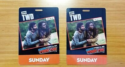 NYCC 2019 Sunday 10/6 Badges - Set of 2 (Fan Verified, Pre-Activated, & In Hand)