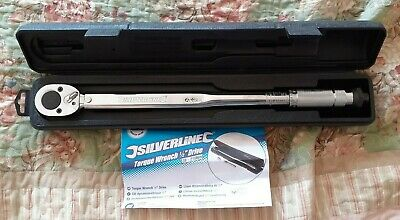"""TORQUE WRENCH 28-210Nm 1/2"""" DRIVE SILVERLINE 633567"""
