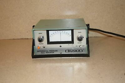 <Ss> Ruska Differential Pressure Null Indicator Cat No 2416-711A