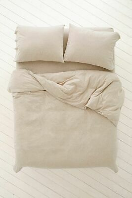 BNWT Urban Outfitters Honey Jersey Duvet Cover Set Double