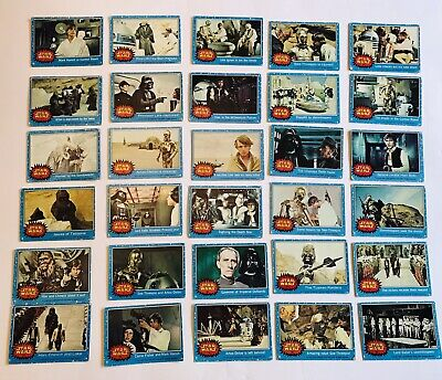 Vintage Star Wars Cards 1977 Blue Series 1 Mixed Lot 58 Cards No Dupes