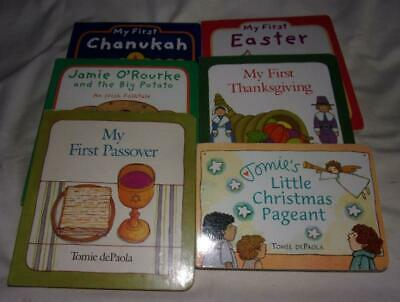 Set of 6 Tomie dePaola board books