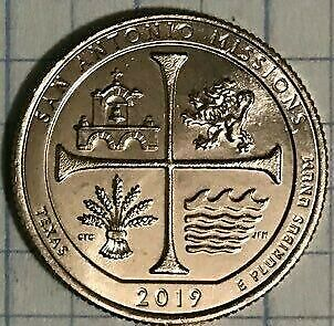 2019-W 25C One Each-San Antonio Missions National Historic Park Texas West Point
