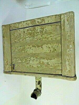 ATQ VTG Wood Toilet Tank Water Closet Copper Lined Architectural Salvage - AS IS