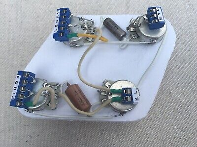 GIBSON LES PAUL 50's Guitar Wiring Harness with PIO's, Long ... on gibson es-335 wiring, gibson les paul wiring mods, gibson 50s wiring, gibson switch wiring,