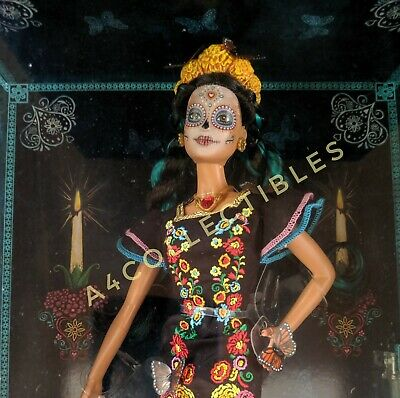 BARBIE Day of The Dead Doll Dia De Los Muertos Holiday In Hand NEW SHIPS FAST