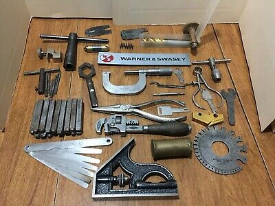 Vintage Machinist Tool Junk Drawer Lot Small Flat Full
