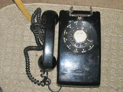 Western Electric (Bell Systems) 554 Wall Telephone Black  case needs polishing