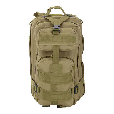 Military Molle Camping Backpack Tactical Camping Hiking Travel Bag Mud Color 30L