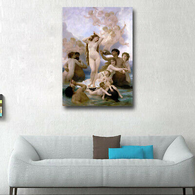 The Birth of Venus by William Bouguereau Giclee Print on Canvas Home Decor