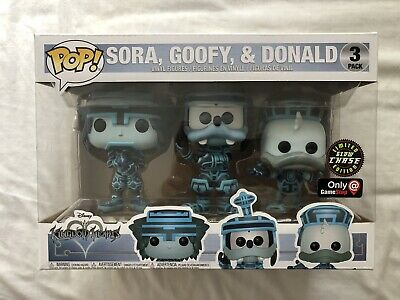 Funko Pop 3 Pack Kingdom Hearts Chase Goofy Donald Sora GITD Gamestop