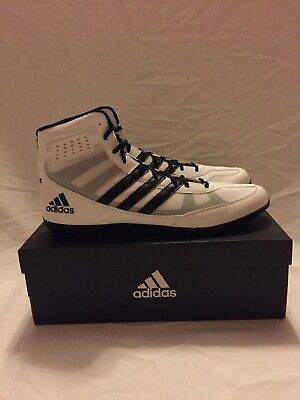 New In Box Adidas Mat Wizard 3 Wrestling Shoes Black and White size 15
