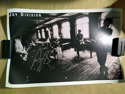Joy Division Poster signed by Peter Hook New Order