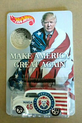 Custom Hot Wheels Maga Make America Great Donald Trump Dairy Delivery Truck