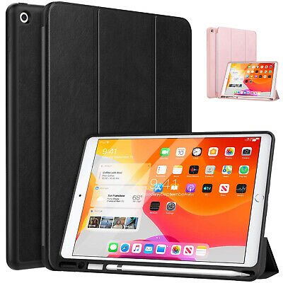 """MoKo for New iPad 10.2"""" 7th 2019 Smart Shell Stand Cover Case w/ Pencil Holder"""